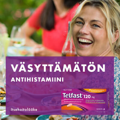 Väsyttämätön antihistamiini