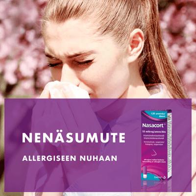 Nenäsumute allergiseen nuhaan